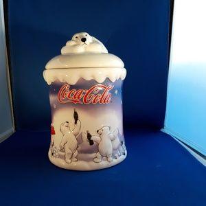 Coca Cola Polar Bear Cookie Jar 2002